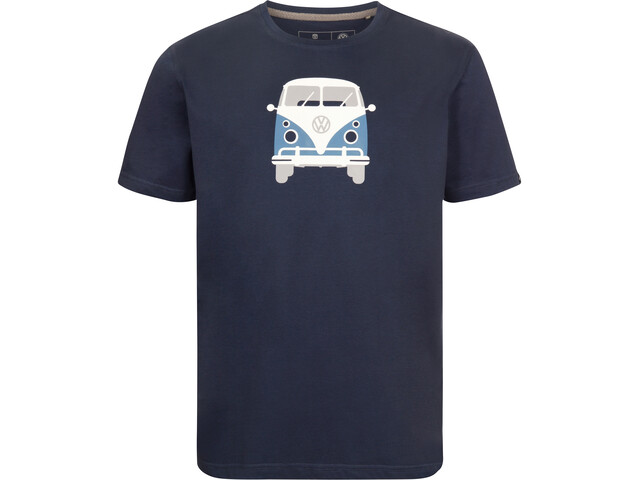 Elkline Methusalem T-shirt Homme, darkblue